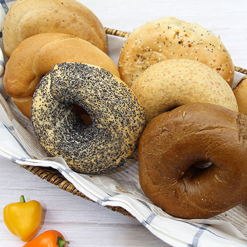 6 assorted bagel